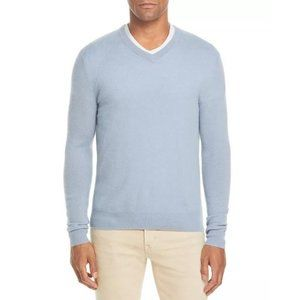 NEW Bloomingdale's 100% Cashmere V-Neck Sweater